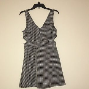 Black and white polka dot dress H&M